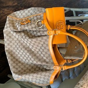 Authentic Gucci handbag and authentic Gucci wallet